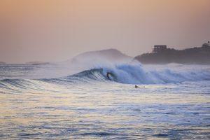 Waves in Playa Santana, Nicaragua